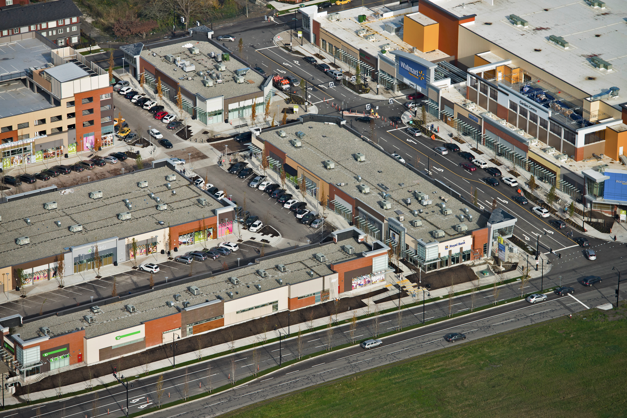 Aerial photo of SmartCentres Richmond N/Central at Garden City - View of Walmart