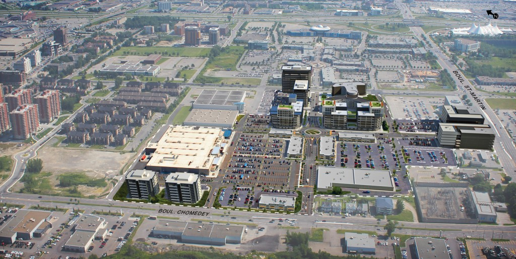 Laval Centre Aerial Rendering