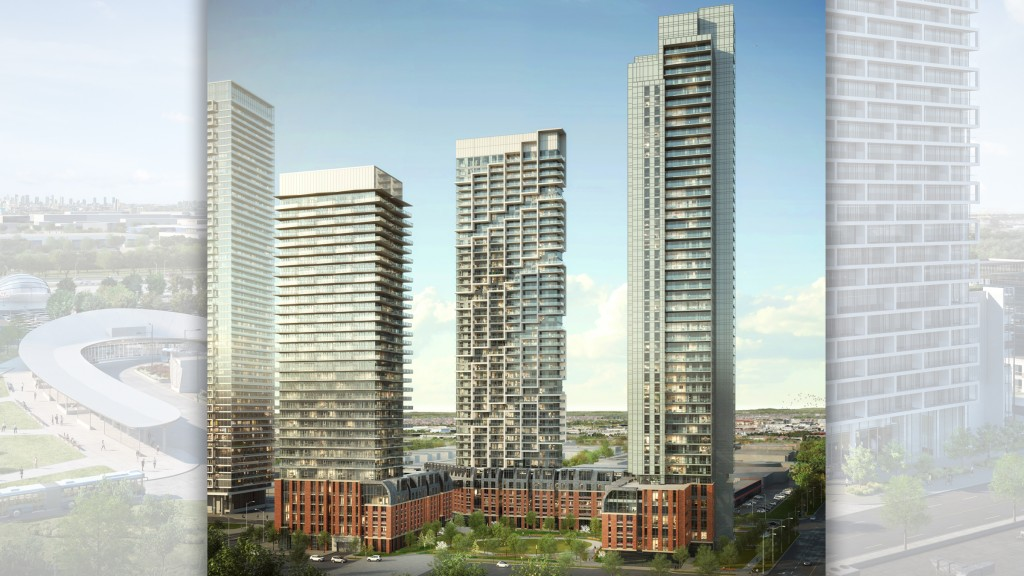 Three new towers to join existing Transit City development